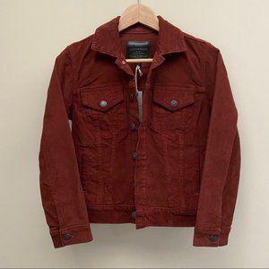 NWT Lucky Brand Burgundy Corduroy Jacket XS